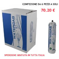 Scatola 6 bombole Co2 Usa e Getta 600 gr Watergas